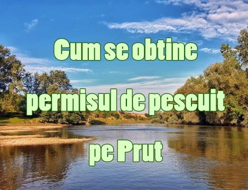Permisul de pescuit pescuit pe Prut
